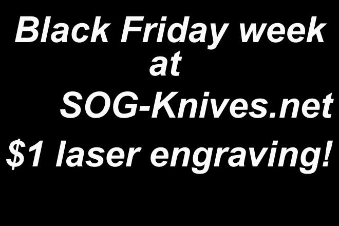 SOG Knives Black Friday 2015