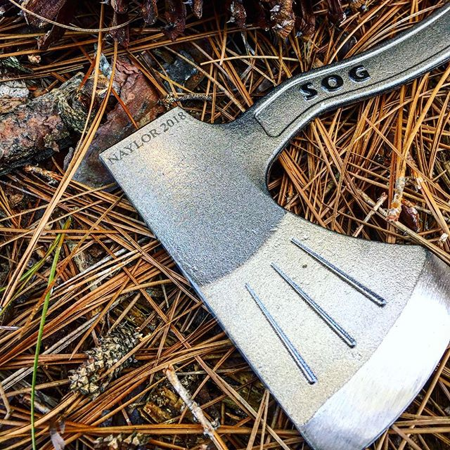 SOG Badaxe Base Camp Axe / Hatchet F16-N. 16 inches of forged steel ready for action is exactly what you need on your next camping trip! Get yours with personalized engraving at Sog-knives.net ! #sog #bad #axe #personalized #engraving #F-16N