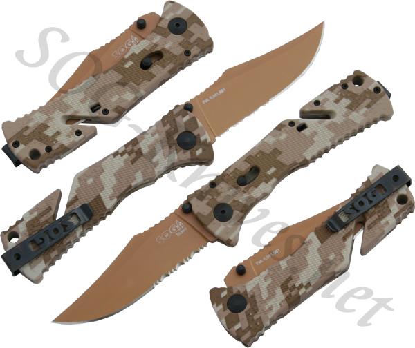 Sog trident desert camo knife tf-5